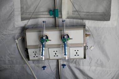 Las instalaciones del hospital militar móvil en Campo de Mayo