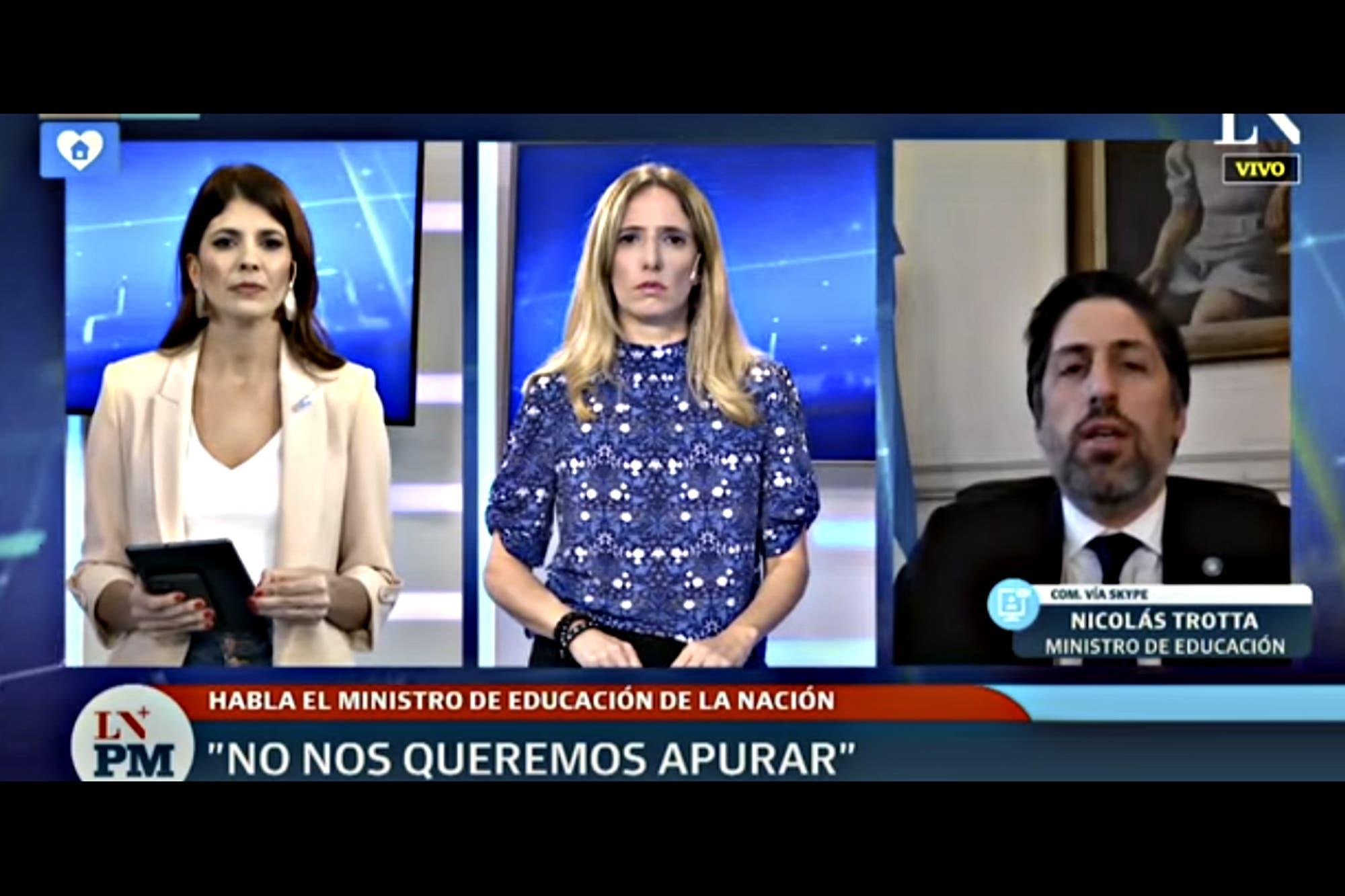 Coronavirus. Nicolás Trotta habló sobre la crisis en los colegios privados