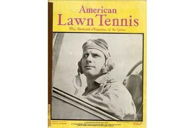 La portada de la revista American Lawn Tennis, luego de que Joe Hunt falleciera cuando el avión de combate que piloteaba se estrelló en las aguas de la Florida.