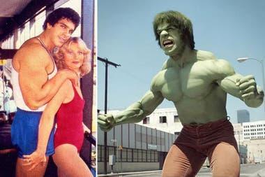 """Lou Ferrigno, el fisiculturista que interpretó al """"hombre verde"""" en la serie El Increíble Hulk, está casado hace 40 años con su esposa, Carla Green"""