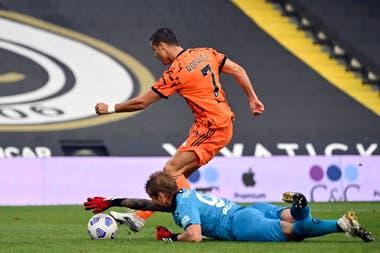 Cristiano Ronaldo recargado: después de la cuarentena por Covid, volvió a Juventus y al minuto festejó su gol