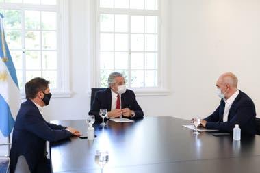 La quita de coparticipación a la ciudad para enviar recursos a la provincia tensó la relación entre Alberto Fernández y Horacio Rodríguez Larreta
