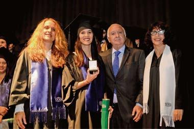 López, Berdullas, Frigerio y Vieytes durante la ceremonia