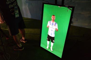 Javier Mascherano, en la sesión de fotos oficiales
