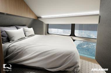 El interior del Airlander 10; las habitaciones tendrán baño privado