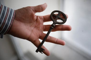 One of the original keys, which still work, from the doors of the basilica