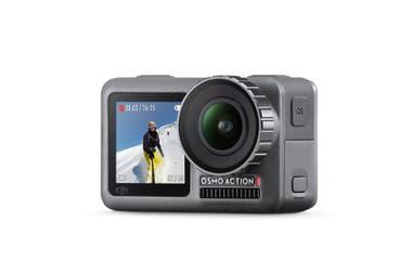 La diferencia que marca la cámara DJI Osmo con su competidor directo GoPro Hero Black está en la pantalla frontal, ideal para registros en modo selfie