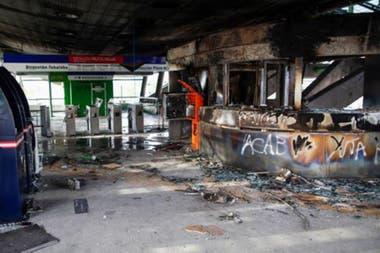 Algunas estaciones de metro quedaron muy afectadas durante las protestas