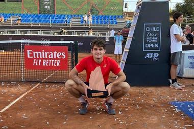 Thiago Seyboth Wild, campeón del ATP de Chile a principios de marzo, se infectó de Covid-19.