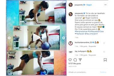 """Paula Pareto: terminó su cuarentena obligatoria y se sumó """"al frente de batalla"""""""
