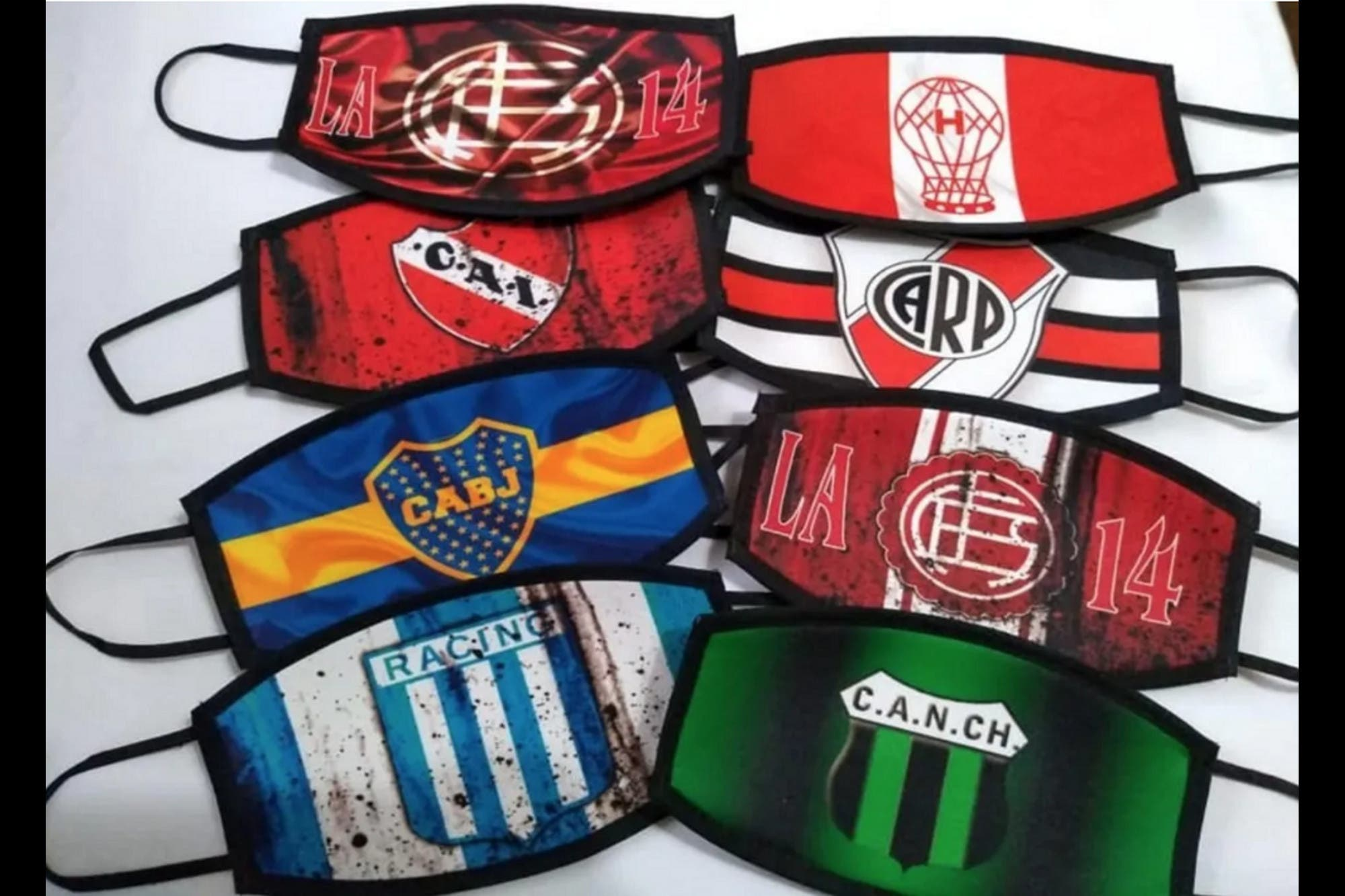 Tapabocas con diseños futboleros: la novedad en los canales de ...