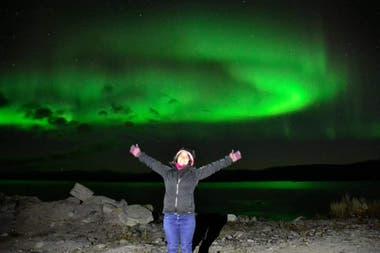 Cinthia Monzón pudo recorrer gran parte de Suecia durante su programa de Working Holiday; uno de los lugares que más disfrutó fue Abisko, en el círculo polar ártico, en donde pudo ver auroras boreales