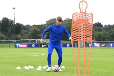 Timo Werner ya se entrena con Chelsea. El alemán arribó a Londres a cambio de 55 millones de euros