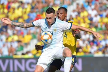 El atacante surgido de River, que pasó también por Olympique, de Marsella, es ahora una alternativa valiosa para Lionel Scaloni en la selección argentina.