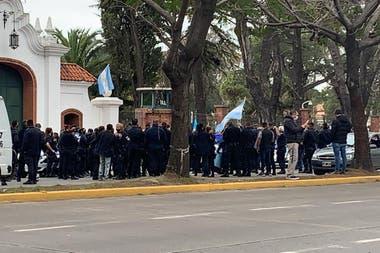 La protesta fue reconducida desde el Conurbano hacia la quinta presidencial de Olivos