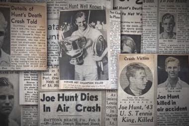 El fallecimiento de Joe Hunt, el campeón del US Open de 1943, reflejado en los artículos periodísticos de la época (1945).