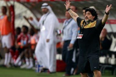 Diego en Abu Dhabi, en septiembre de 2011; allí también dirigió