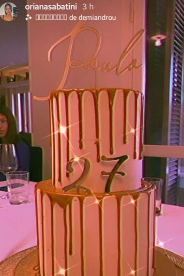 La torta de cumpleaños de Paulo Dybala