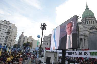 Acción por el Día del Militante
