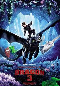 Afiche de Cómo entrenar a tu dragón 3 3D