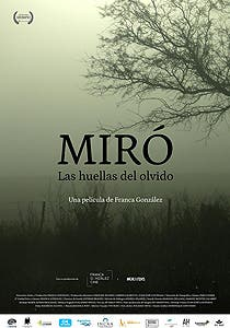 Afiche de Miró, las huellas del olvido